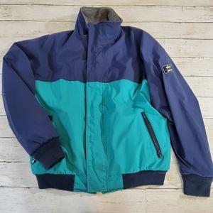 Vintage gortex woolrich winter coat colorblock